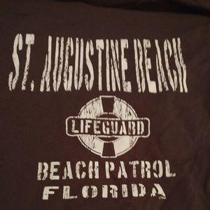 St Augustine Beach lifeguard Long-sleeved T-Shirt